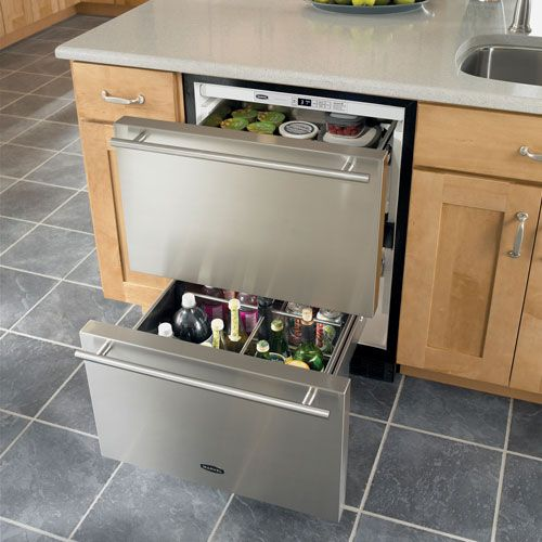 Rde Marvel  Inch Built In Double Drawer Fridge