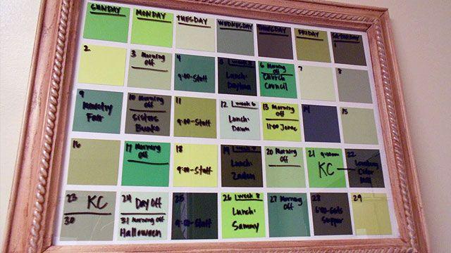 Buenisima idea para calendario!