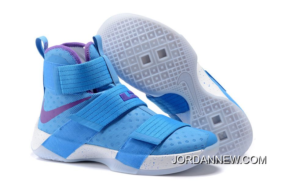 Now Buy Nike Zoom LeBron Soldier 10 Blue Purple White Cheap To Buy Save Up  From Outlet Store at Pumafenty.