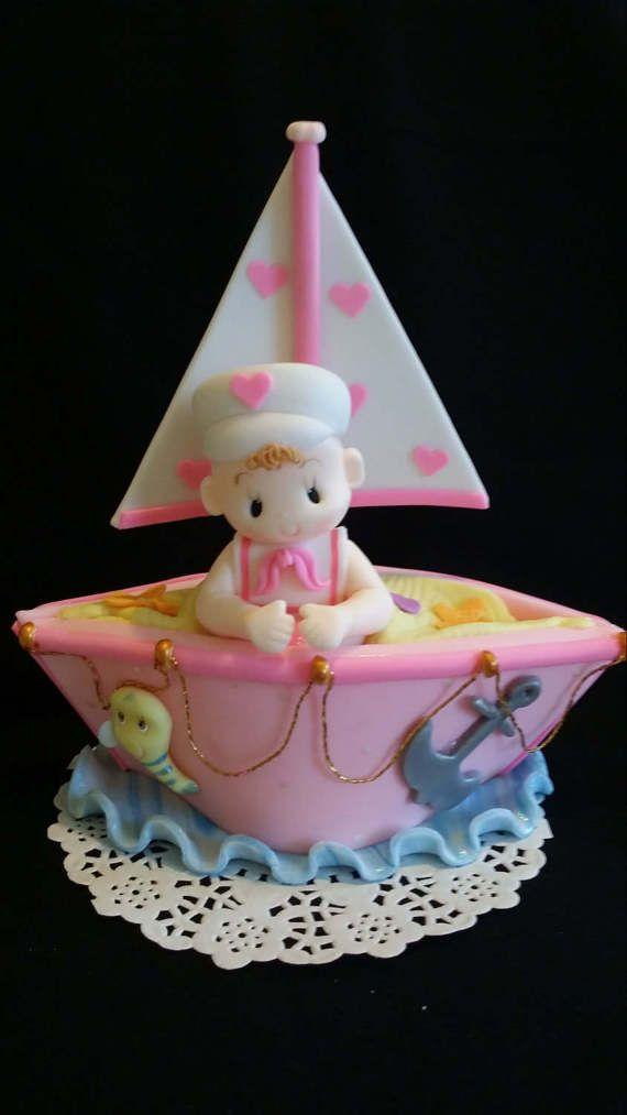 Náutica la torta de cumpleaños Ahoy es un Boy náuticos Baby