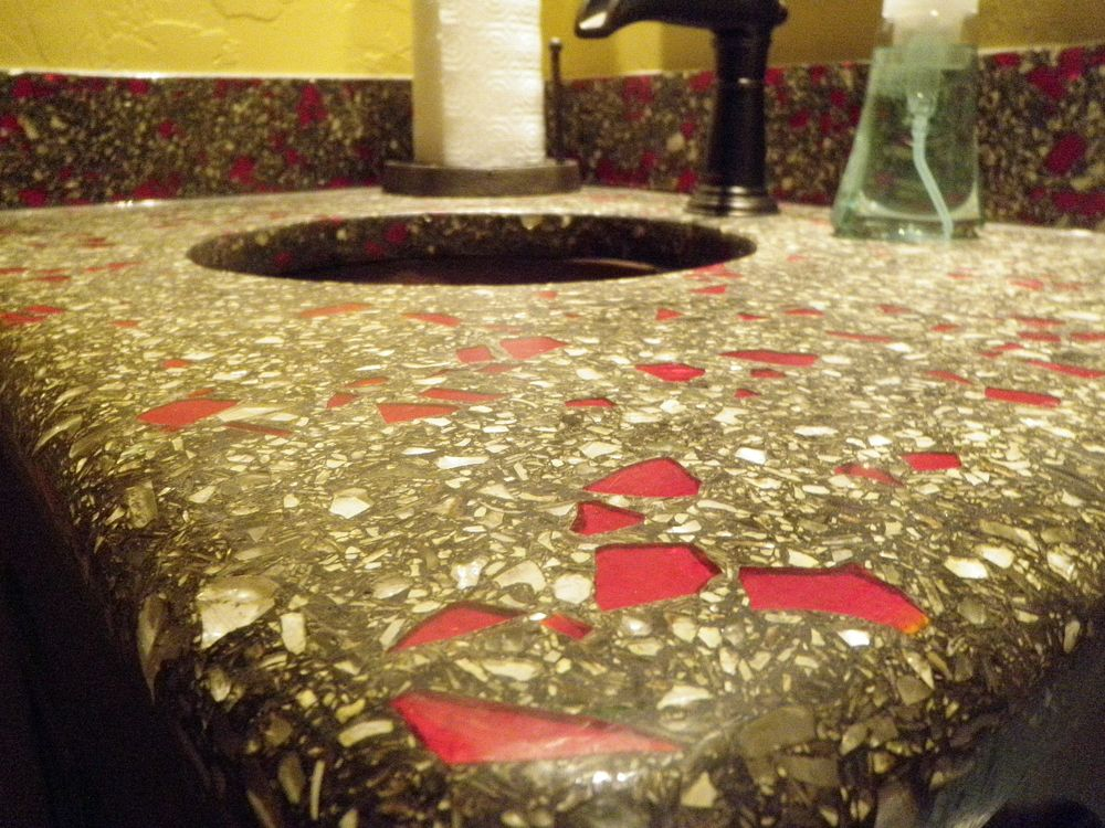 Marvelous Crushed Glass For Countertops   DirectColors.com. Diy Concrete CountertopsCrushed  GlassRecycled ...