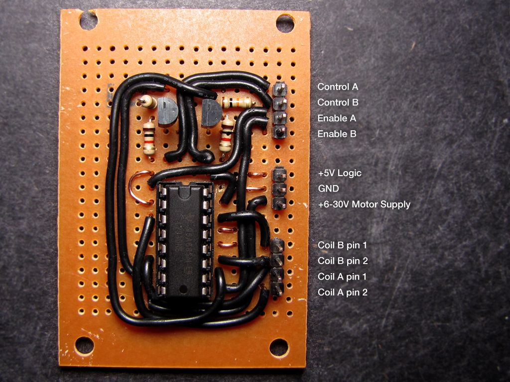 Usb Rds Coder Board Using Atmega32 L293d Stepper Motor Controller Circuit And Pinout Aquarium