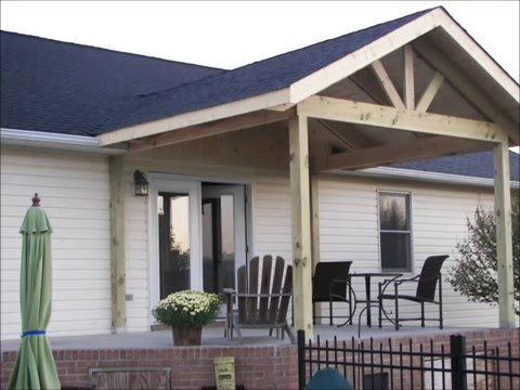 Ranch Style House Front Porch Addition Youtube Front Porch