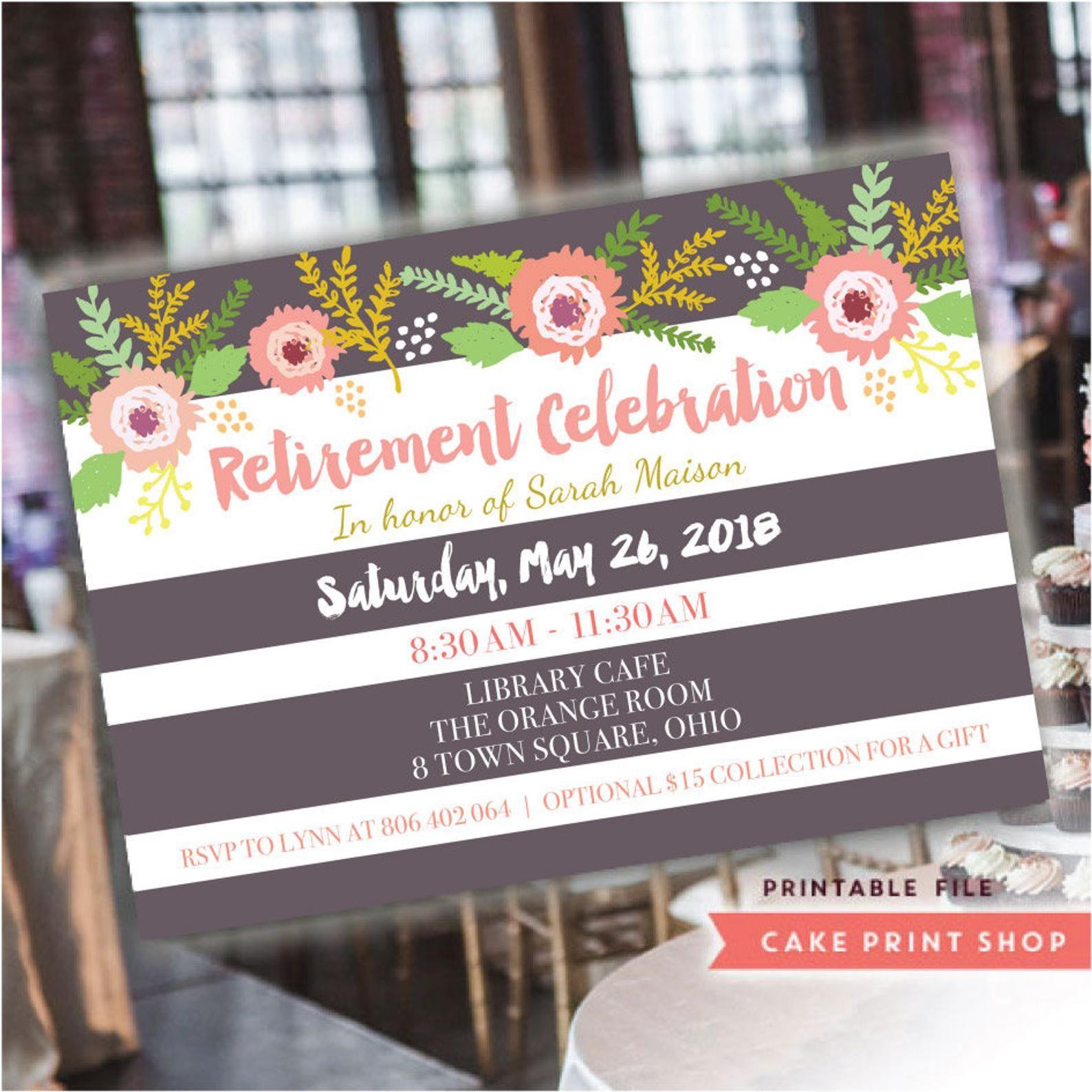 retirement celebration invite farewell invitation