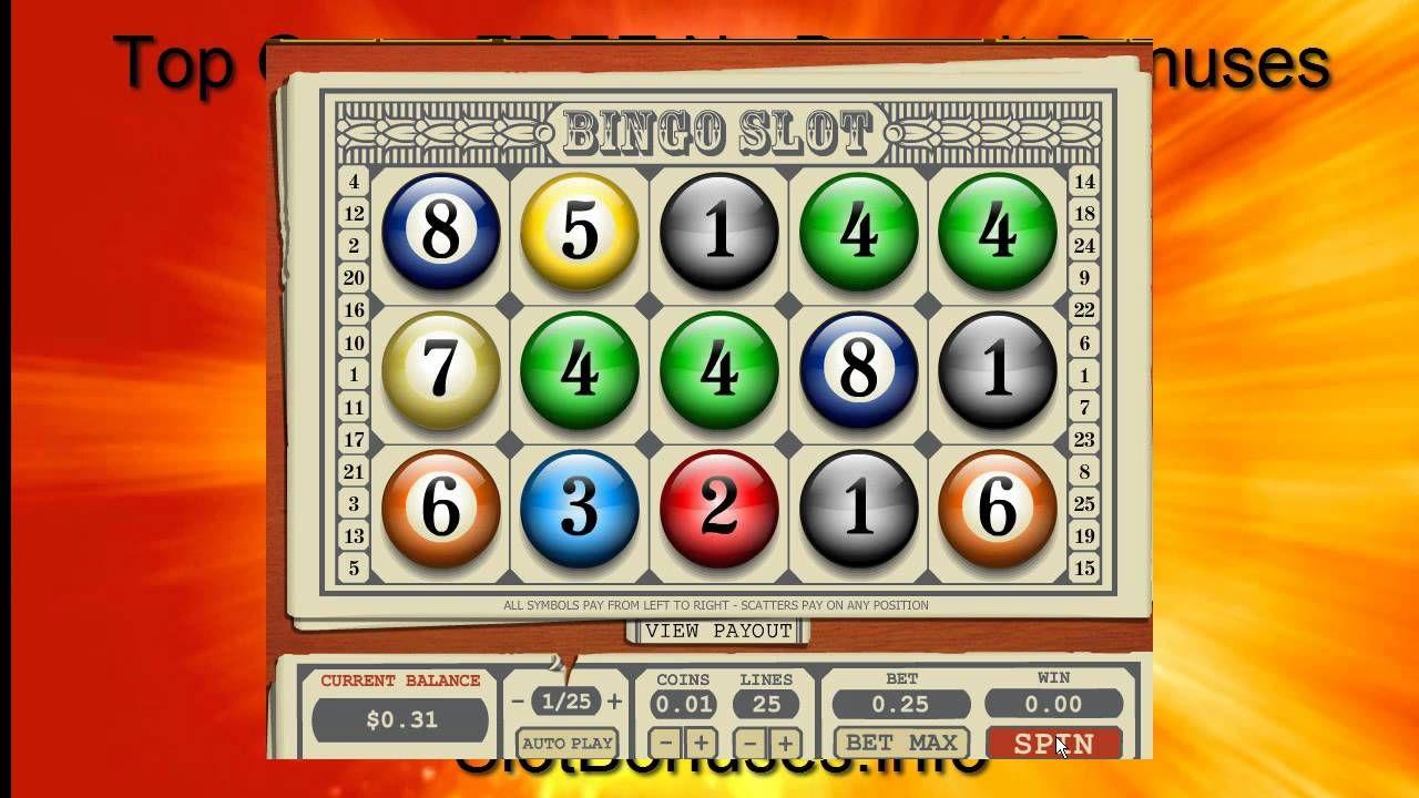 Bingo Slot Top Game FREE No Deposit Bonuses Bingo