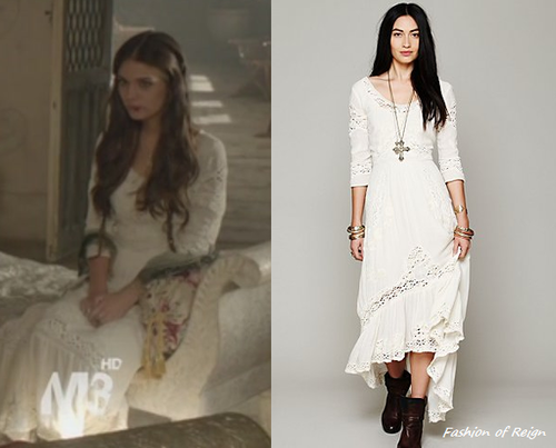 In the eighth episode Kenna wears this Free People Mexican Wedding Dress in ivory($198).
