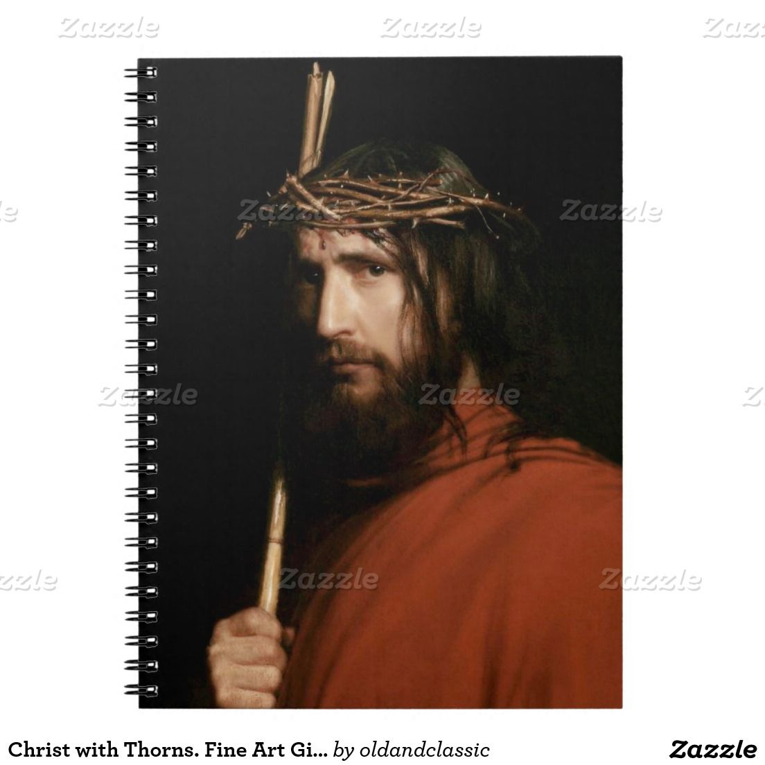 Christ with thorns fine art gift notebook christ other and oil christ with thorns fine art gift notebook negle Gallery