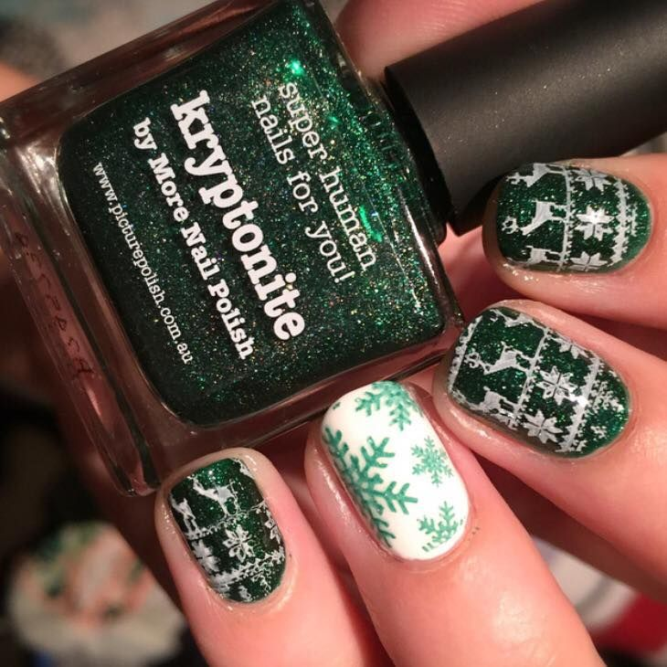 Christmas Themed Nail Art By Clairely Polished Clairely Polished