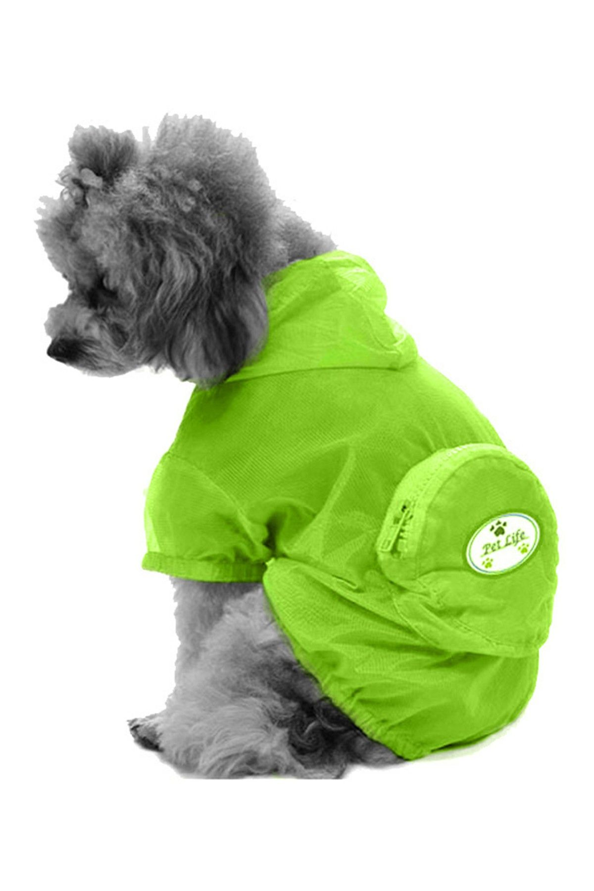 ULTIMATE WATERPROOF FOLDING DOG PONCHO- YELLOW GREEN