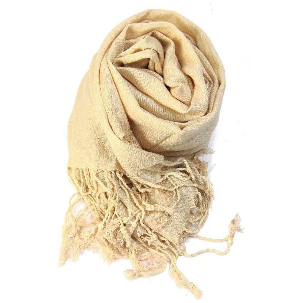 Womens soft Cotton Viscose Solid Long Plain Pashmina Shawl Wrap Scarf Scarves