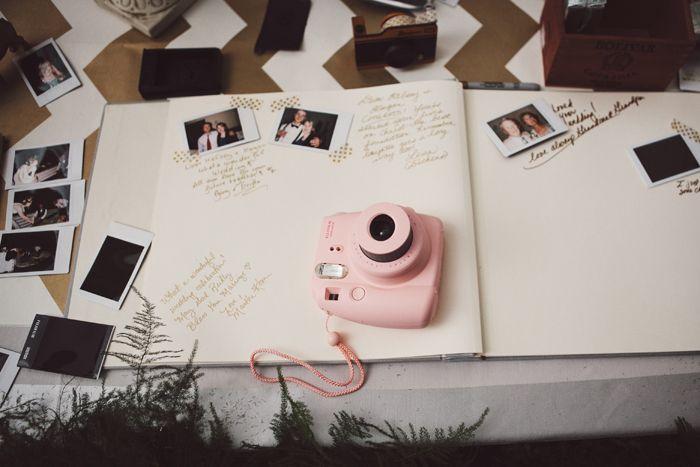 Cute Wedding Idea - Polaroid Guestbook