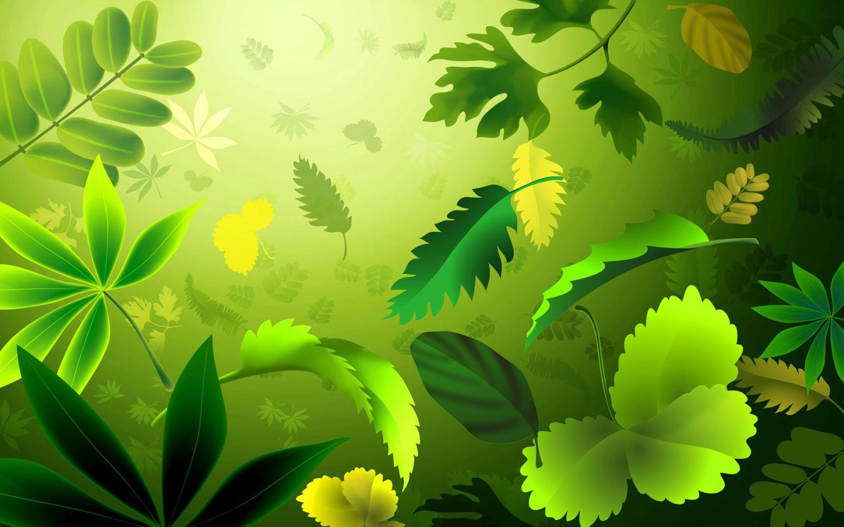 Free Nature Clipart Background Desktop Wallpaper Green Leaf Wallpaper Abstract Green Nature Wallpaper