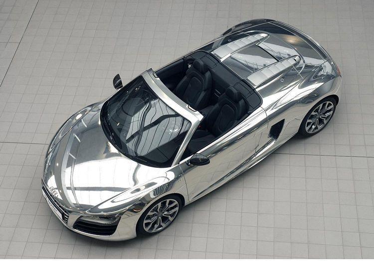 Chrome Effect Finish Audi R8 Spyder V10