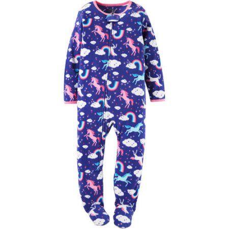 158271c27 Child of Mine by Carter s Newborn Baby Girl 1 Piece Blanket Sleeper ...