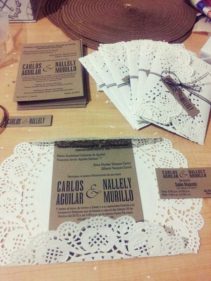 Invitaciones de boda originales Vintage wedding invitations - invitaciones para boda originales
