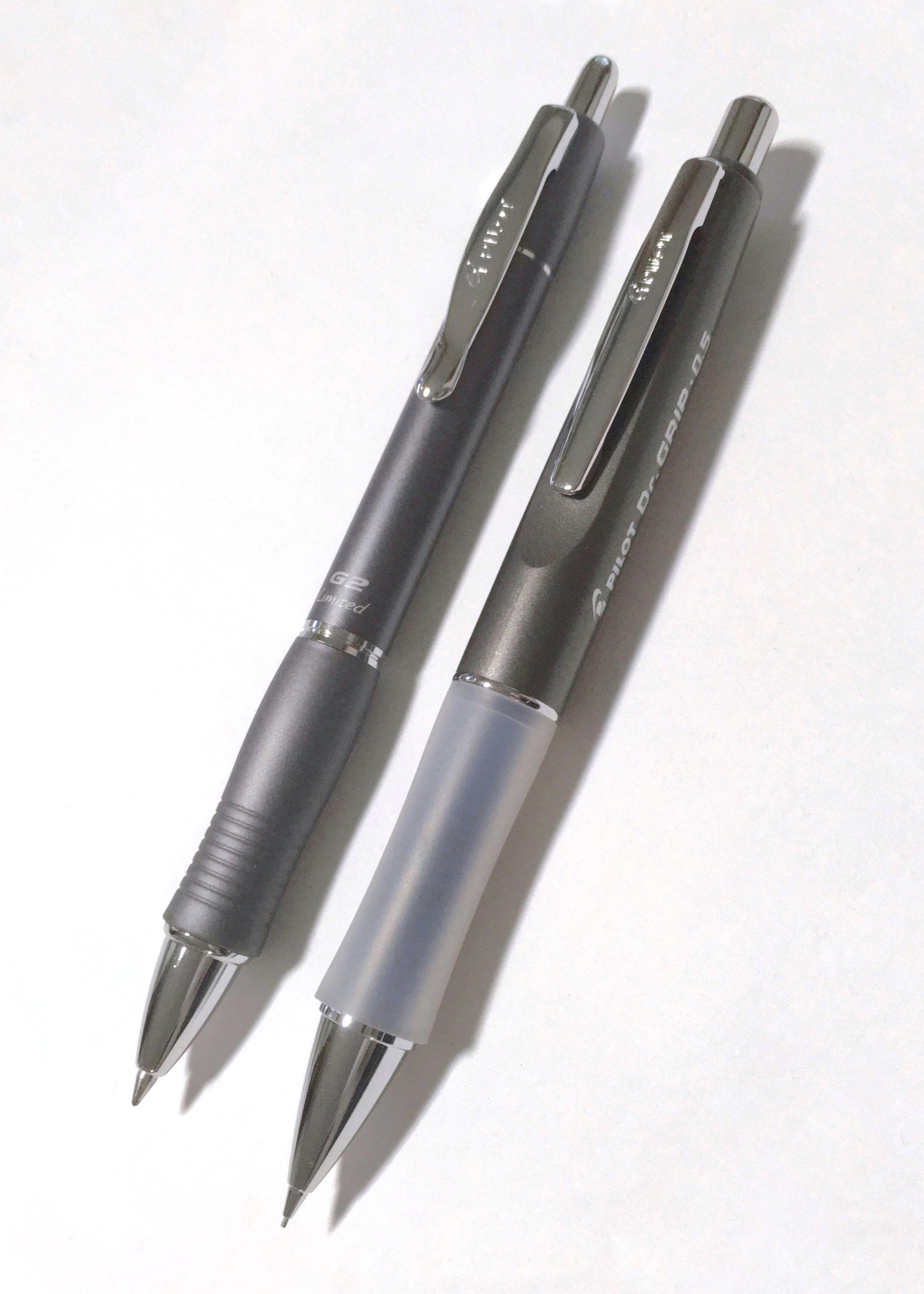 Black Fine Ink 2 SILVER PILOT DR GRIP Limited Gel Rollerball Pen