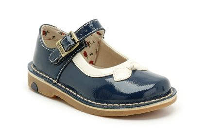 Girls Shoes - Home Gem Fst in Navy Leather from Clarks shoes