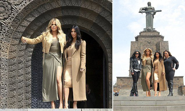 Kim and Khloe take Armenia! Family turn tourists as they hit Yerevan