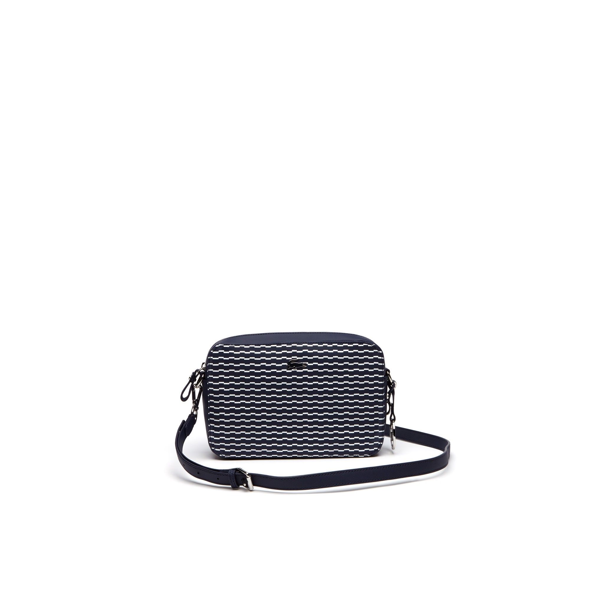 8b92ba0d3 LACOSTE Women S Daily Classic Broken Waves Crossover Bag - Wave Peacoat  Whitewave Peacoat White.  lacoste  bags  shoulder bags  canvas  pvc  charm  ...