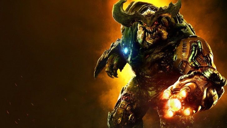 Download Cyberdemon 4K Wallpaper Doom 2016 3840x2160