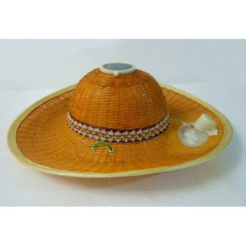 Solar Fan Cap Bamboo Hat With Solar Panel And A Fan Attached Environment Friendly Proyectos