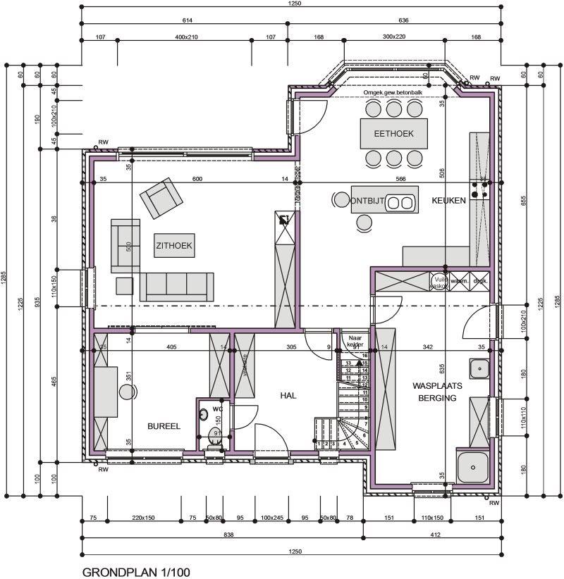Grondplan huis google zoeken home sweet home huizen for Grondplannen huizen