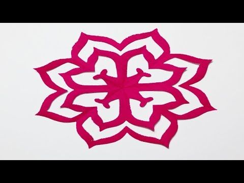 How To Make Easy Paper Cutting Flowers Simple Paper Cutting Design