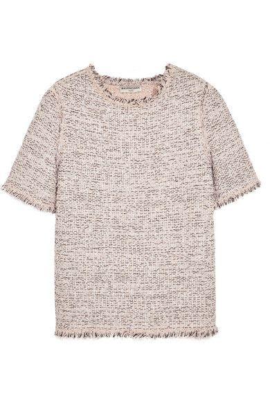 Balenciaga | Frayed tweed top | NET-A-PORTER.COM