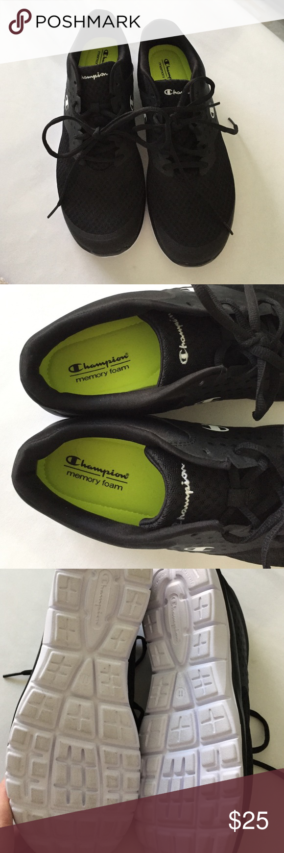 c7316b6289a NWOT size 11 champion sneakers. Never worn NWOT black champion size 11 sneakers  memory foam insole. Super comfy Champion Shoes Athletic Shoes