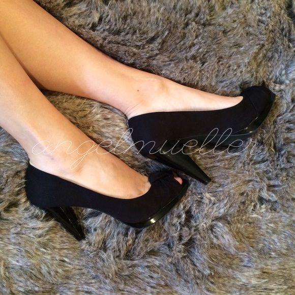 🆕 Black peep toe heels | New style