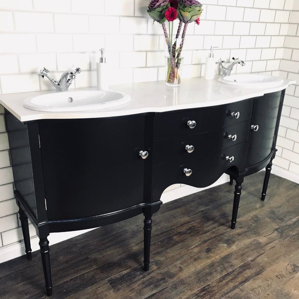 Vintage Bathroom Vanity Sink Basin Unit With Double Basins Furniture Twin Sinks Ebay Vintage Bathroom Vanities Vintage Bathroom Vanity Double Vanity Bathroom [ 1000 x 1000 Pixel ]