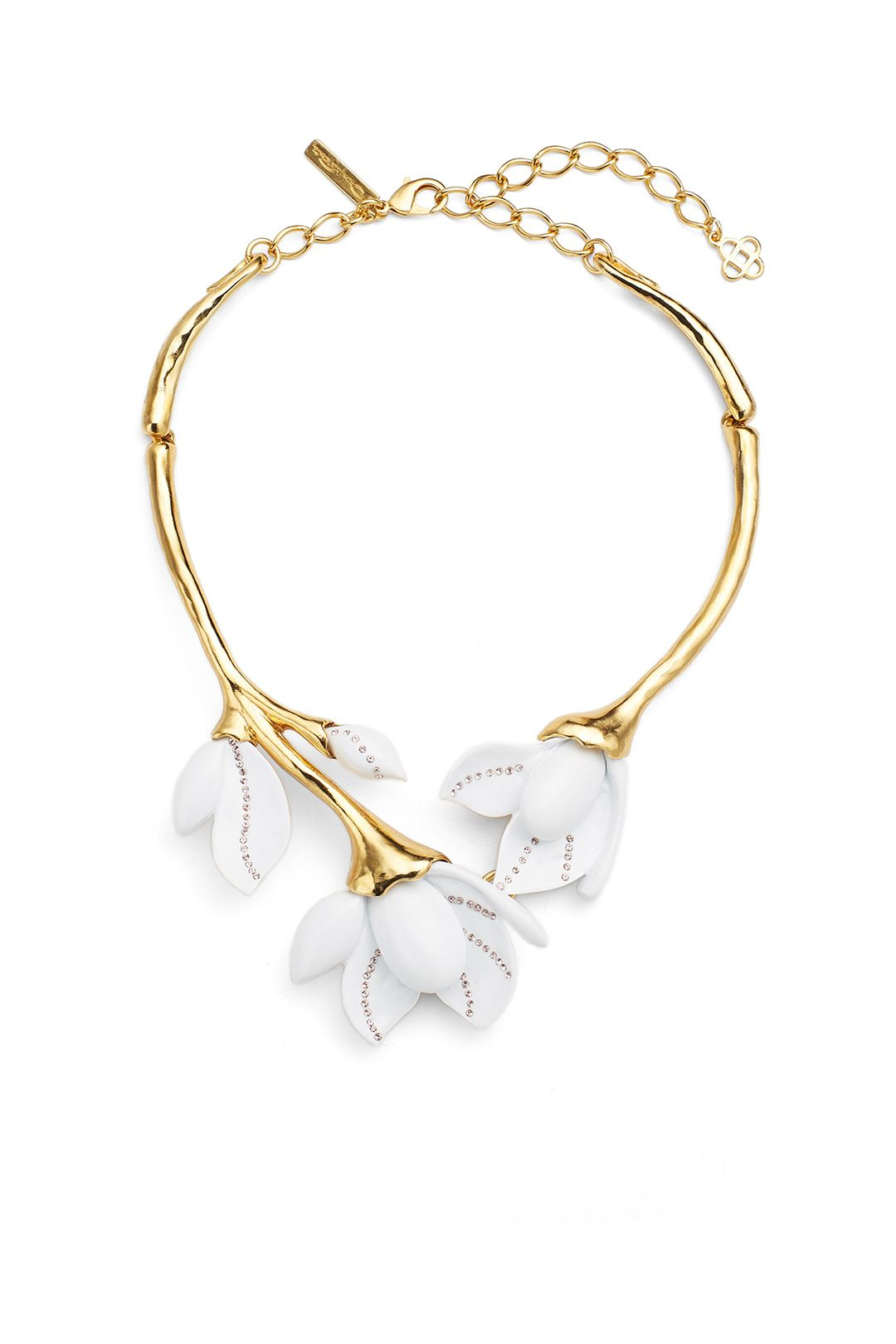 1903e5b3f Rent Magnolia Resin Flower Necklace by Oscar de la Renta for $100 only at  Rent the Runway.