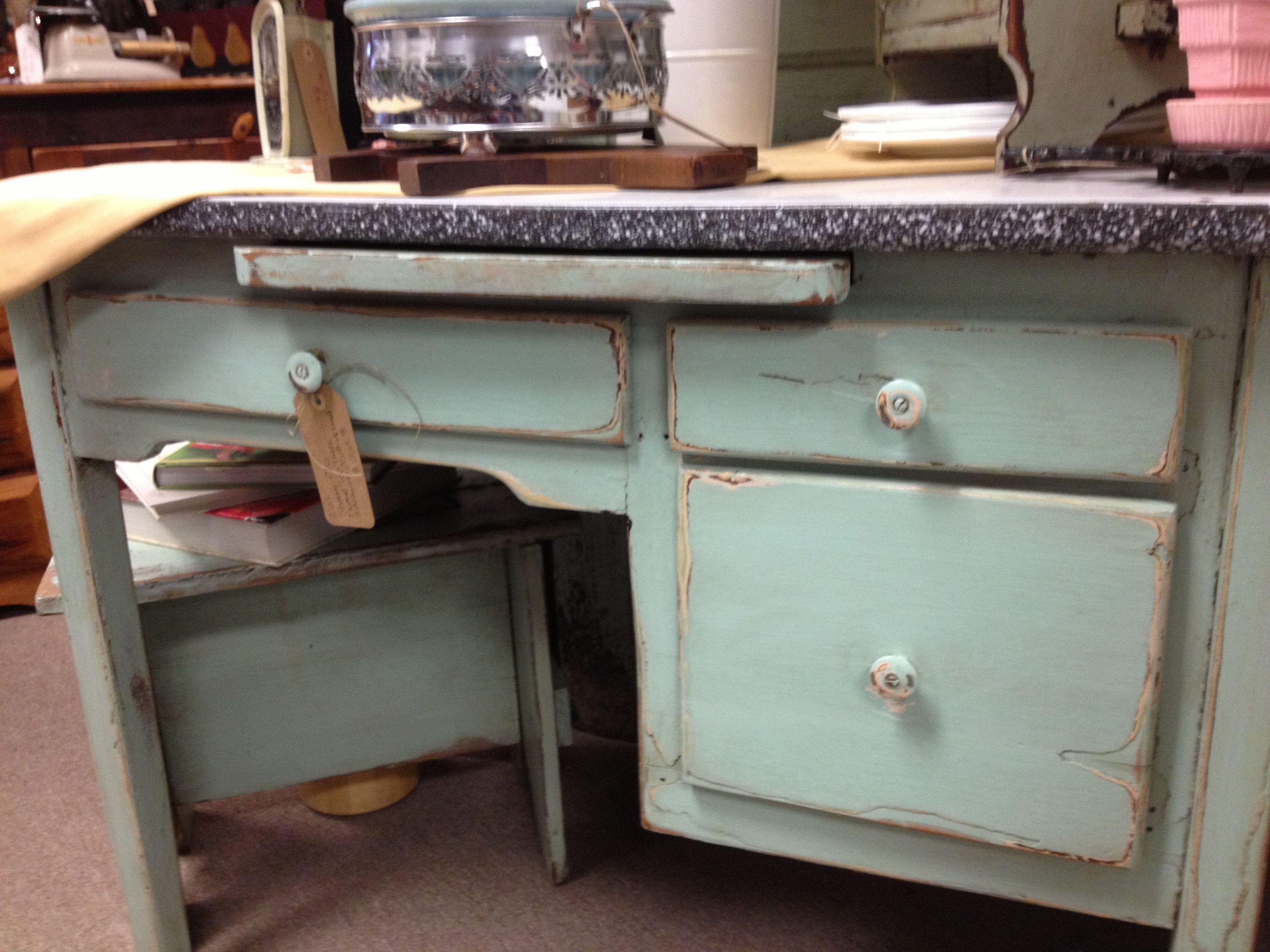 Aqua kitchen work table