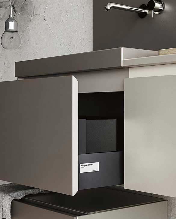 Collezione bagno design contemporaneo, Mobili bagno in Fenix NTM ...