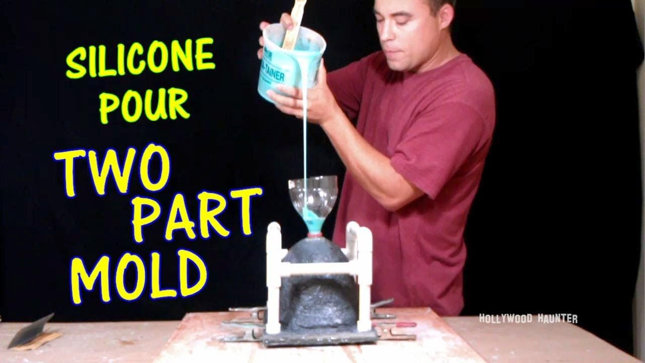 How to make a mold pouring silicone in skull mold how to