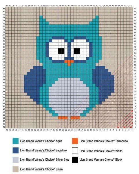 Crochet an Adorable Corner To Corner (C2C) Owl Baby Blanket! With ...