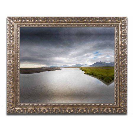Trademark Fine Art 'Event Horizon' Canvas Art by Philippe Sainte-Laudy, Gold Ornate Frame, Size: 11 x 14, Multicolor
