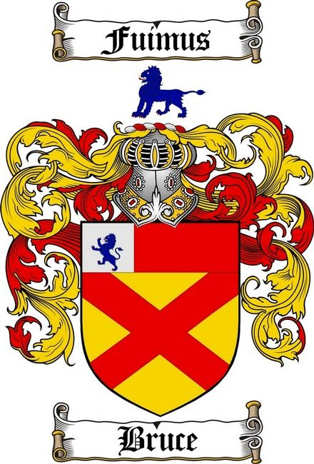 Bruce Family Crest Bruce Coat Of Arms Gifts Available At 4crests