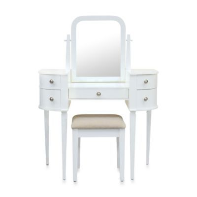 I Would Make It Look Weathered Lamont Home Chelsea Vanity Set In White