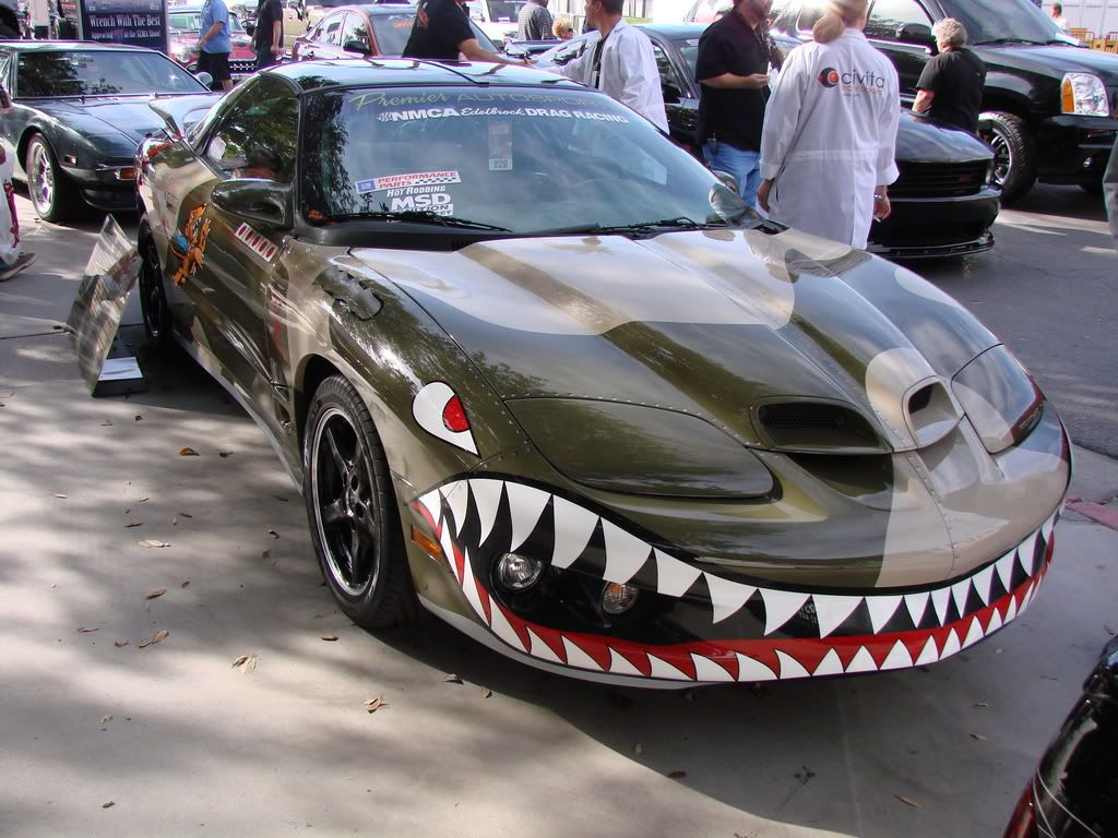 Car Painted Like Fighter Plane
