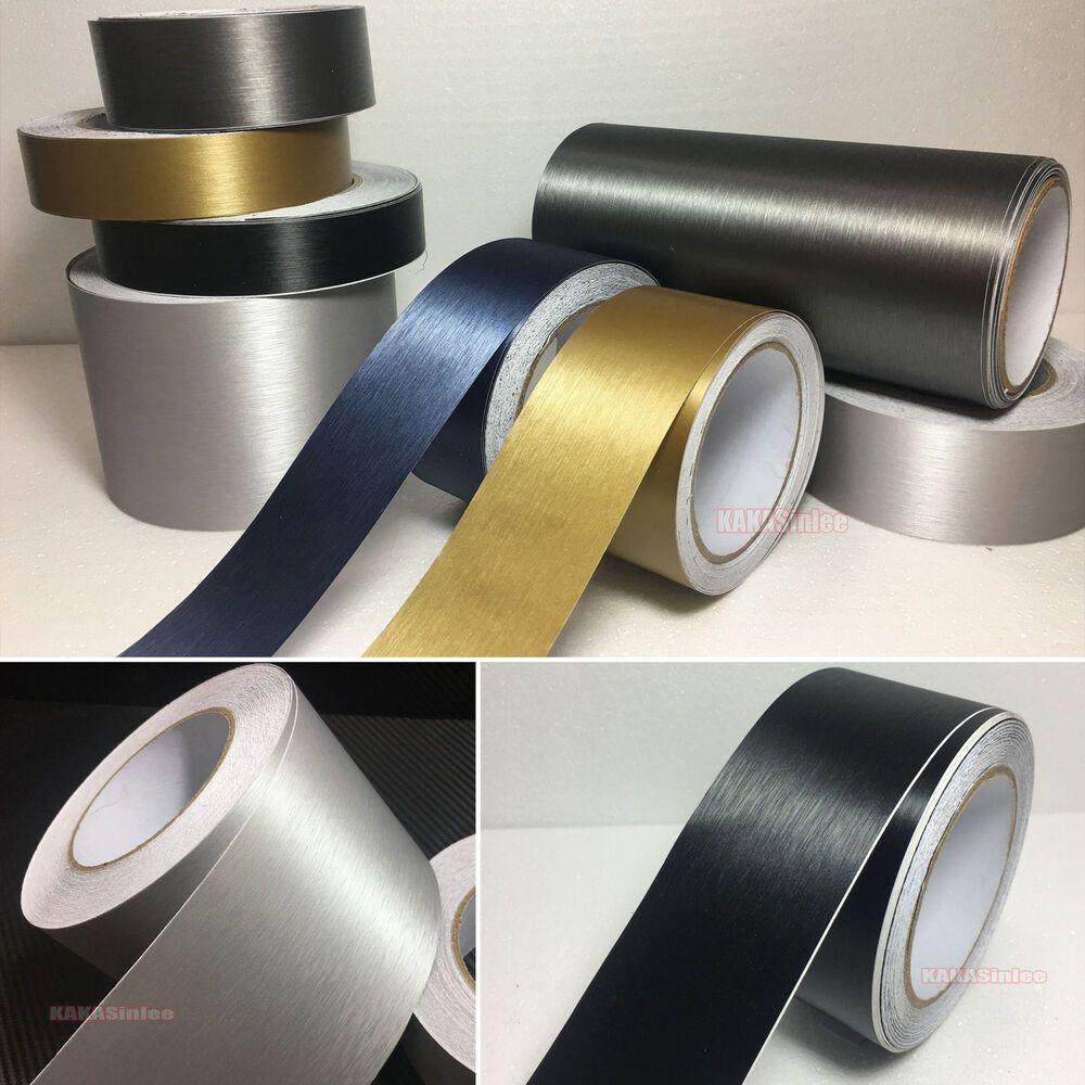 Wholesale Brushed Pearl Metal Matte Tape Car Vinyl Wrap Aluminum Sticker Abus Vinyl Wrap Car Vinyl Wrap Vinyl