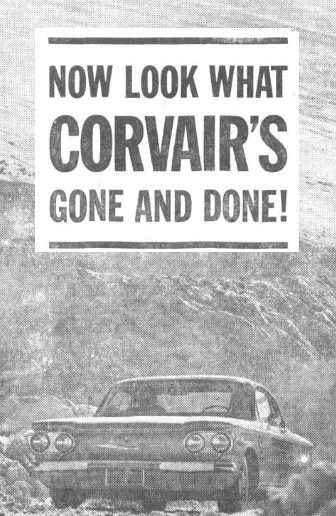 1960 Corvair Ad Letters From Home Mchenry Newspaper Archives