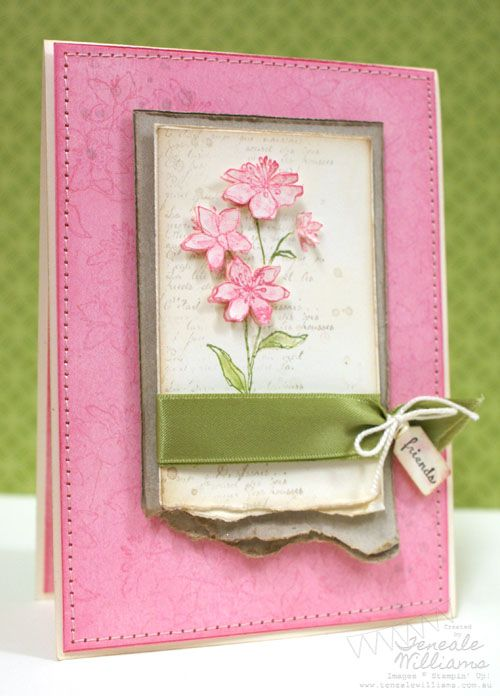 Delightful Friendship Card Making Ideas Part - 5: Stampinu0027 Up, Card Making Ideas, Simply Soft, French Foilage, Friendship,