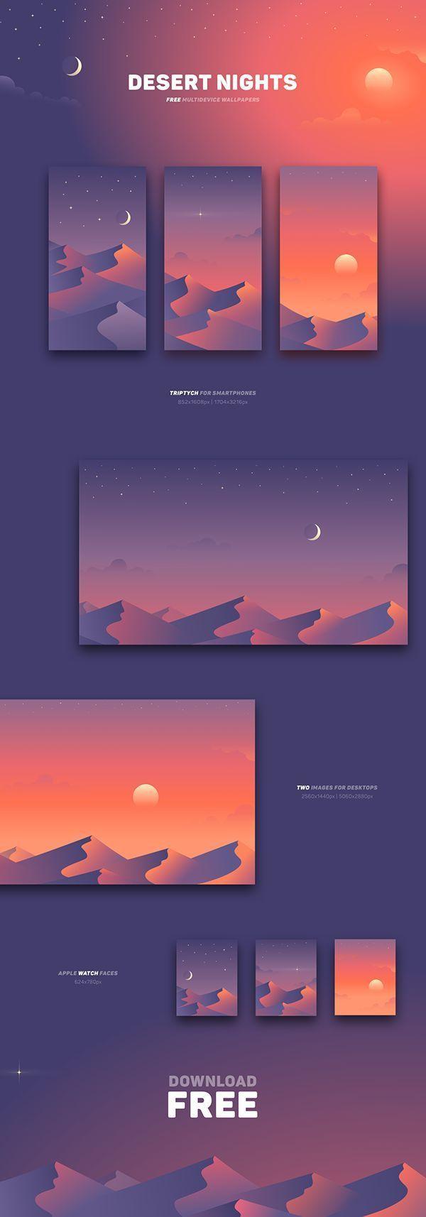 Desert Nights Free Wallpapers Desert Free Nights Wallpapers In 2020 Creative Web Design Graphic Design Graphic Design Inspiration