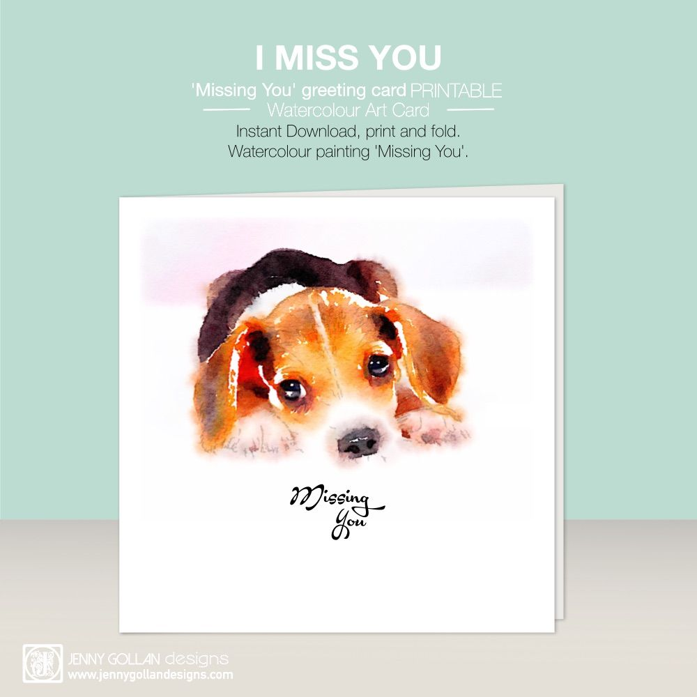 Instant download greeting card printable missing you printables instant download greeting card printable missing you kristyandbryce Image collections