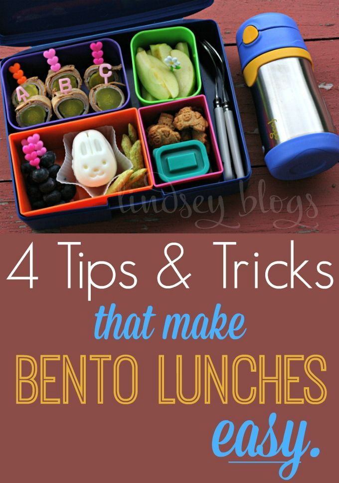 4 Tips & Tricks that make creating bento lunches easy.