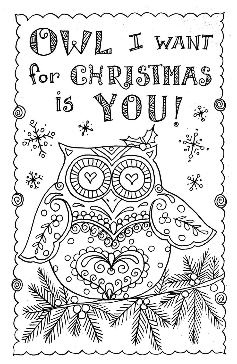 Adult Coloring Book Christmas Cards - Worksheet & Coloring Pages