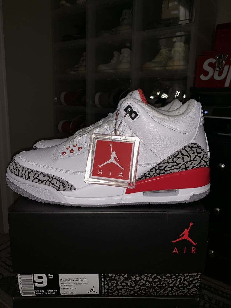 bc6be17df7f9a7 Brand New 2018 Nike Air Jordan Retro 3 Katrina Hall Of Fame A136064-116 Size