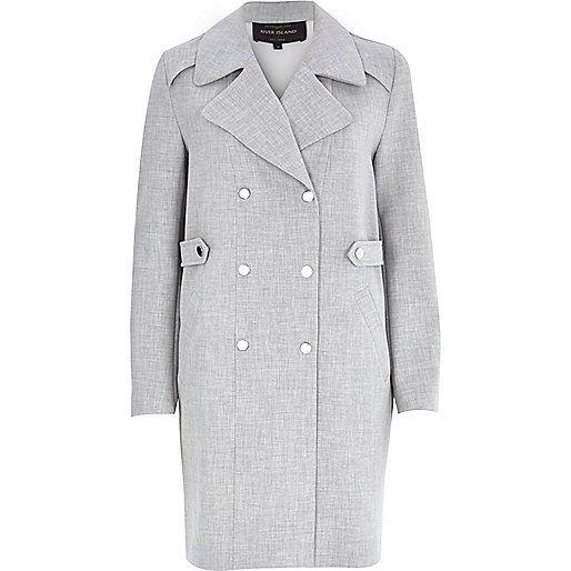 61610a38bae0 Grey bonded trench coat - coats - coats   jackets - women