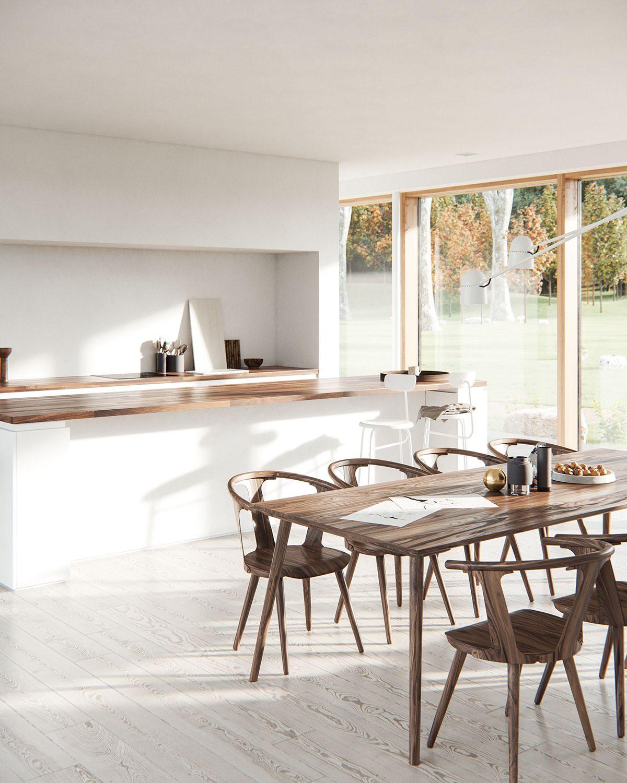Kitchen Dining Interior Design: Contemporary Dining Room Design, Dining